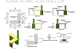 Table plan and elevation detail autocad file
