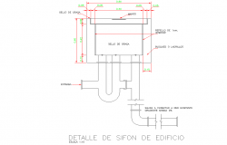 Tank layout detail dwg file