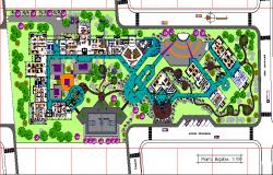 Technical school layout plan dwg file