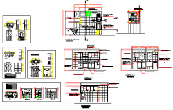 Technical specifications of bathroom design drawing