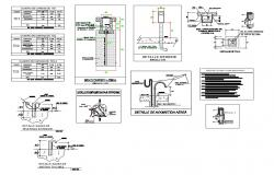 Telephone, television and other electric equipment installation details dwg file