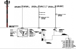 Telephonic three legged tower electric installation details dwg file