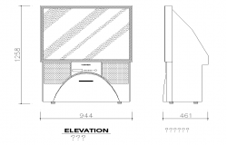 Television Detail CAD block layout autocad file