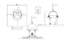 Temple Elevation Drawing CAD File