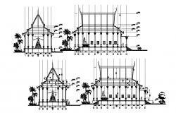 Temple elevation in dwg file