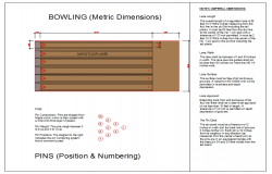 Ten Pin Bowling Floor Lay-out detail