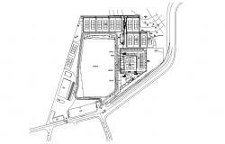Tennis Coaching Centre DWG File