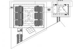 Tennis Court And Club Design AutoCAD File Free