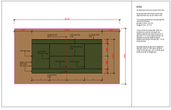 Tennis Court Lay-out design