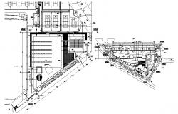 Tennis Sports Ground CAD Drawing