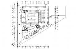 Tennis Stadium Ground Plan Plan AutoCAD File