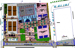 Tennis club and family sports center project dwg file