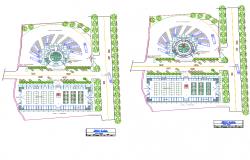 Terminal market plan autocad file