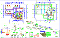 Terrace and roof plan with coverage plan detail of biotechnology university dwg file