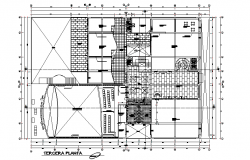 Terrace floor Commercial working plan detail dwg file