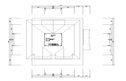 Terrace plan detail layout autocad file