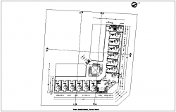 Terrace plan of municipal building dwg file
