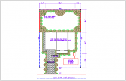 Terrace plan view of house detail dwg file