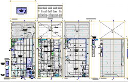 Textile industry architecture project details dwg file