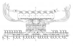 The Architecture Airport Project Floor Plan With Jet Bridge AutoCAD File