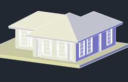 The Architecture Design of Club House Elevation dwg file