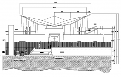 The Architecture Design of Fountain of Life Chapel(church) Elevation and Section dwg file