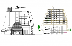 The Architecture Design of Hotel Design dwg file