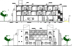 The Architecture Design of Hotel Elevation dwg file
