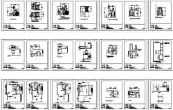 The Architecture Design of Measures for Disabled Persons dwg file