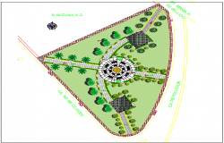 The Architecture Design of Planet Park Elevation dwg file
