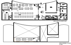 The Architecture Design of Public Library Elevation dwg  file