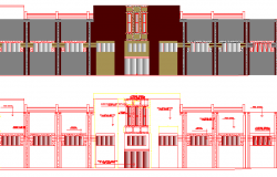 The Architecture Design of Super Market Elevation dwg file