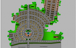 The Architecture Layout of Gurukul School 3d Design dwg file