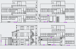 The Architecture Layout of Housing Project dwg file