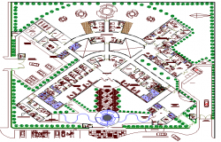 The Architecture Layout of Multi Flooring Hotel Elevation dwg file