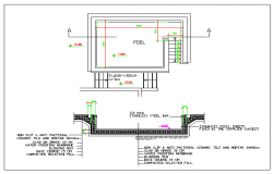 The Architecture Layout of Swimming Pool dwg file