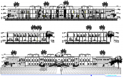 The Architecture Plan of Hospital Elevation dwg file