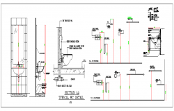 Toilet Section plan dwg file