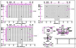 The Architecture Project of Building Roof dwg file