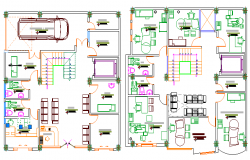 The Architecture Project of Multi-Specialty Clinic dwg file