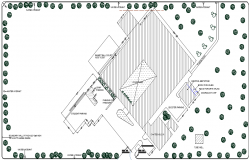 The Architecture Site Plan of Collage Elevation dwg file