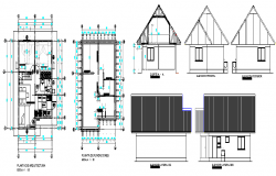 The Architecture View of House Design and Elevation dwg file