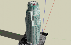 The US bank 3d tower design dwg file