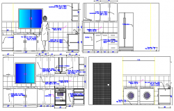 The architecture project details of single family house dwg file