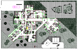 The architecture project of city hospital dwg file