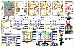 The architecture project of corporate building dwg file
