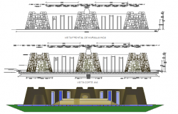 The architecture project of metro hyper market dwg file