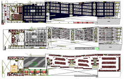The architecture project of shopping center dwg file