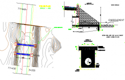 The architecture project of water sewer details dwg file