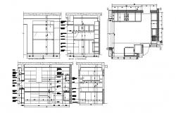 The kitchen layout in autocad